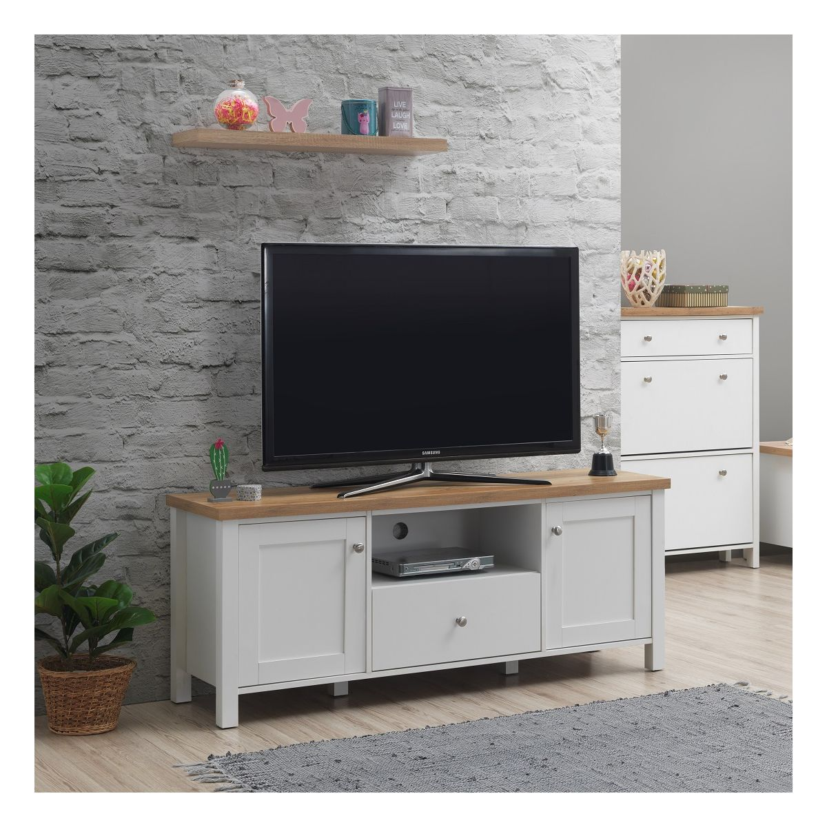 TV Cabinet with 2 Doors & 1 Drawer