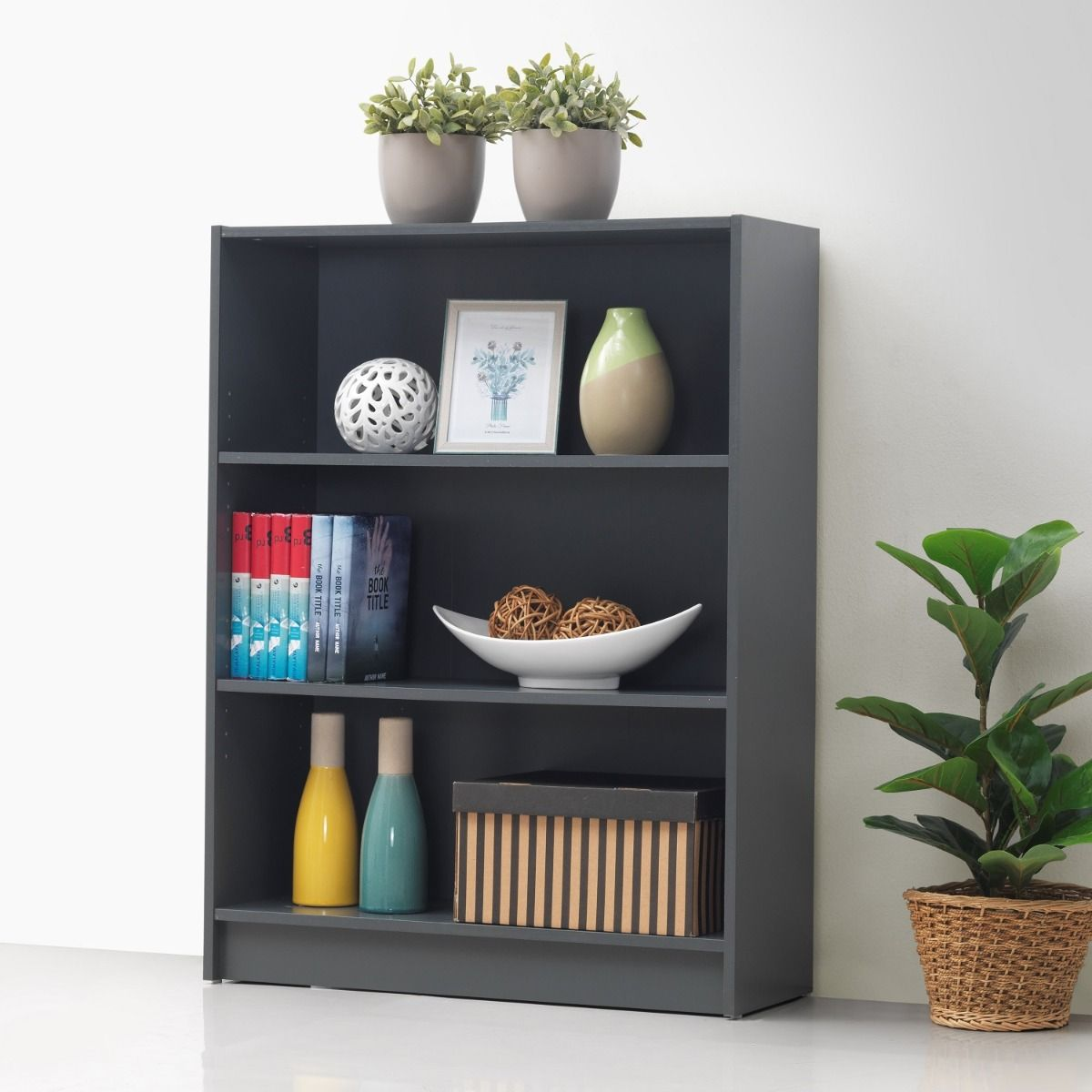 Low Wide Bookcase