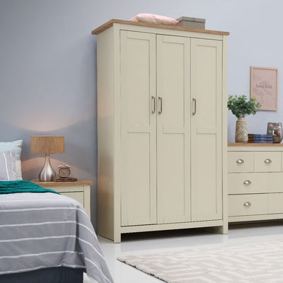 3 Piece Bedroom Set (3 Door Wardrobe, 3+4 Chest, 2 Drawer Bedside)