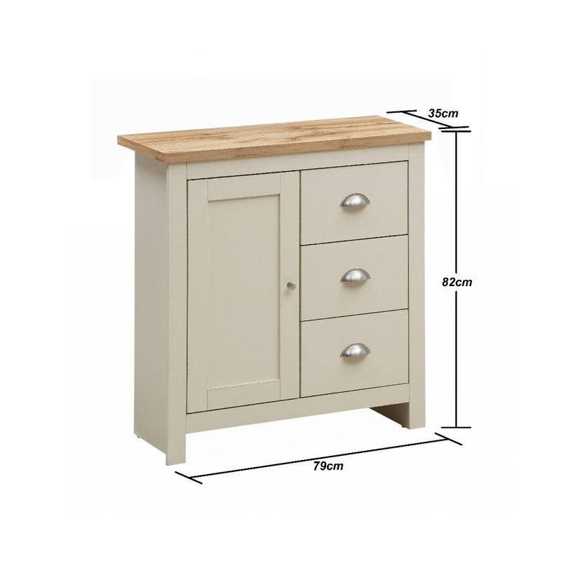 1 Door 3 Drawer Sideboard