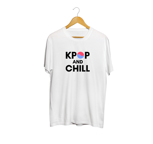 WWK KPOP and Chill Korean Flag T-Shirt