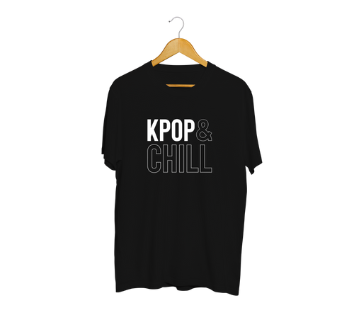 WWK KPOP And Chill Black & White T-Shirt
