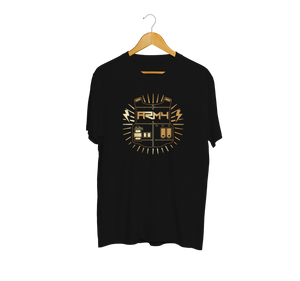 BTS ARMY Gold Shield Black T-Shirt