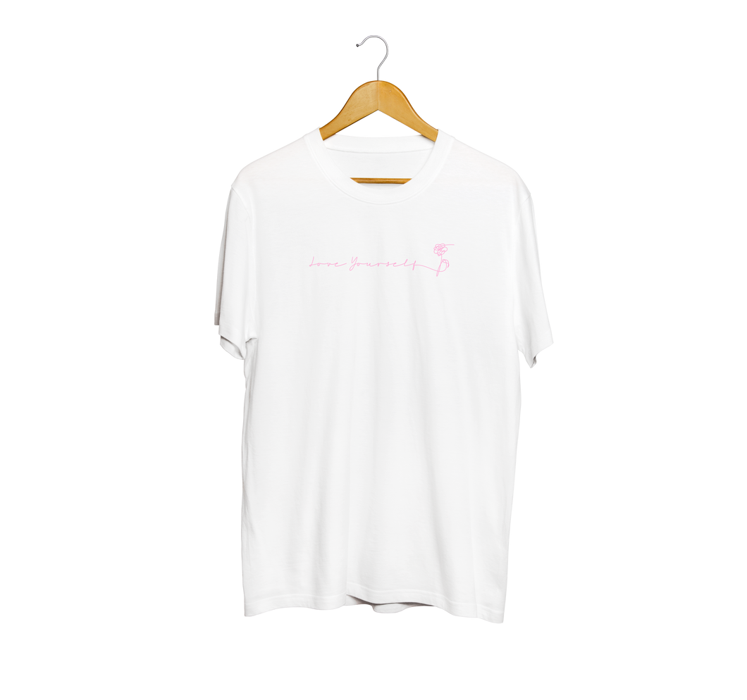 BTS Pink Love Yourself Script T-Shirt