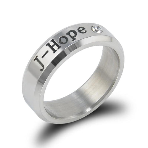 BTS Stainless Steel 'Couple' Ring