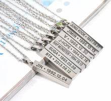BTS Chain Birthday Necklace