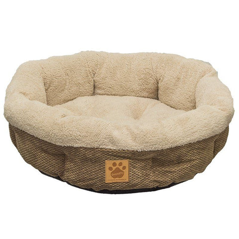 Precision Pet Natural Surroundings Shearling Dog Donut Bed - Coffee