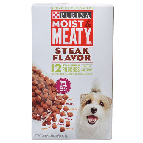 Purina Moist & Meaty Wet Dog Food - Steak Flavor