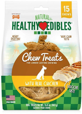 Nylabone Natural Healthy Edibles Chew Treats with Real Chicken