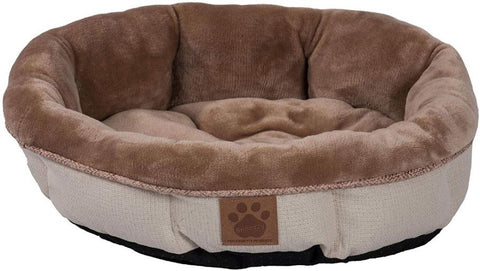 Precision Pet Round Shearling Bed Buff