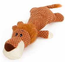 Plush Animal Dog Toy - Elephant - Lion - Wolf