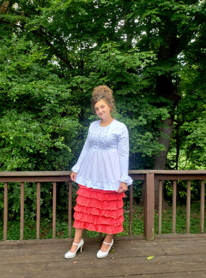 Summer Color Ruffle Skirts