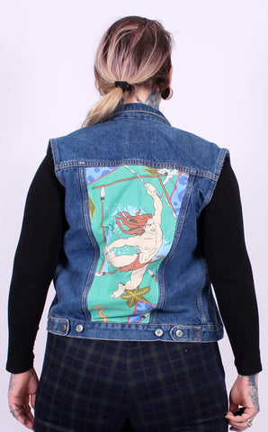 Tarzan denim jacket vest