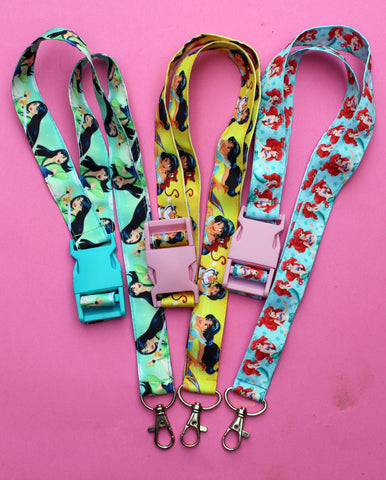 Disney princess lanyards