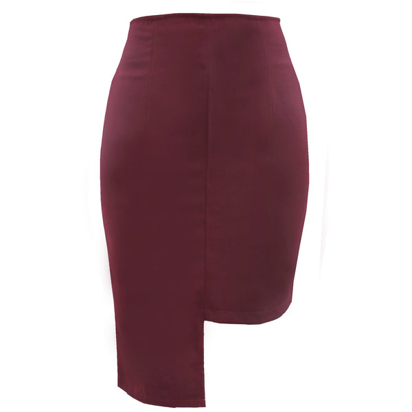 Maroon Long Short Skirt