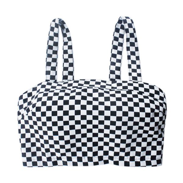 Race Race Checkered Crop Top