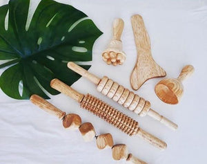Cellulite Kit / 6 piece massage wooden set