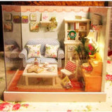 Cuteroom 1:32Dollhouse Miniature DIY Kit with Cover Music LED Light Gather a Happy Moment