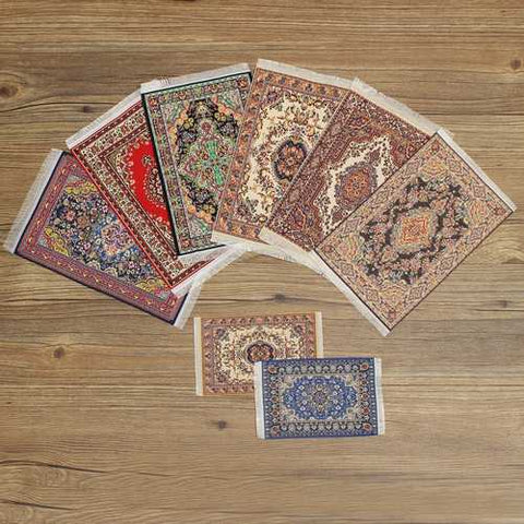 1/12 Dollhouse Turkish Carpet Rug Doll House Miniature Accessories 15x25cm TCM001-TCM010