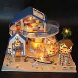 Hoomeda 13844 Legend Of The Blue Sea DIY Dollhouse Miniature Model With Light Music Collection Gift
