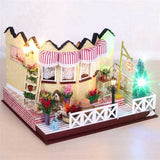 Hoomeda LY001 Herb Tea Vanilla Milk Tea House DIY Dollhouse With Music Light Cover Miniature Model