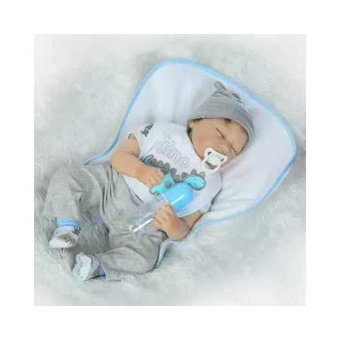NPK 22inch Reborn Baby Doll 100% handmade Lifelike Full Body Full Silicone Action Figure Toy