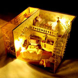 T-Yu Miss Margaret's House DIY Dollhouse With Light Cover Miniature Model Gift Collection Decor