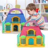 Detachable Hand-held DIY 2-Storey Townhouse Play House Doll House Kid Child Toy