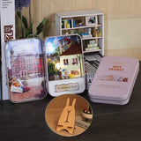 iiecreate DIY Tin Box Secret Dollhouse With Light T-002 T-003 T-004 T-005 Gift Home Office Decor