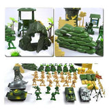100pcs/Set Plastic Military Model Soldiers Figures Scene Toy Kid Children Gift