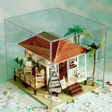 iiecreate K-005H Seaside House DIY Dollhouse Model With Furniture Music Cover Light Miniature Gift
