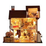 iiecreate K-013 Flower Town DIY Dollhouse With Furniture Light Music Cover Miniature Model Gift