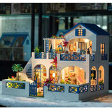 iiecreate K-006 Meteor Garden DIY Doll house With Music Light Cover Miniature Model Doll House