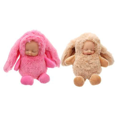 15cm Cute Plush Sleeping Baby Doll Newborn Calm Dolls Soft Bunny Bear Toys Sleep Baby Toys