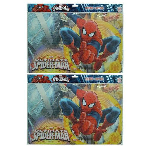 Spider-Man Plastic Placemat Set [2-Per Pack]
