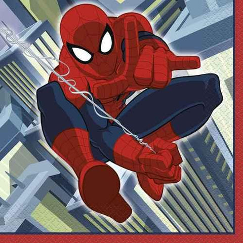 Spider-Man Luncheon Napkins [16 Per Pack]