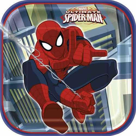 Spider-Man 7 Inch Plates [8 Per Package]