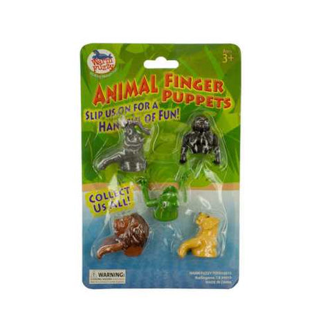 Zoo Themed Animal Finger Puppet Set ( Case of 24 )