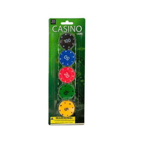Casino Poker Chips Set ( Case of 12 )