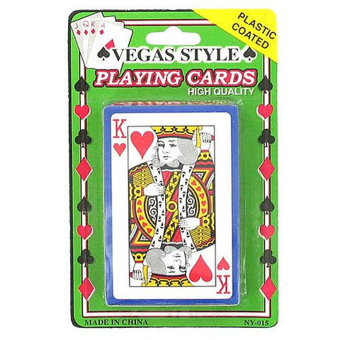 Plastic Coated Poker Size Playing Cards ( Case of 72 )