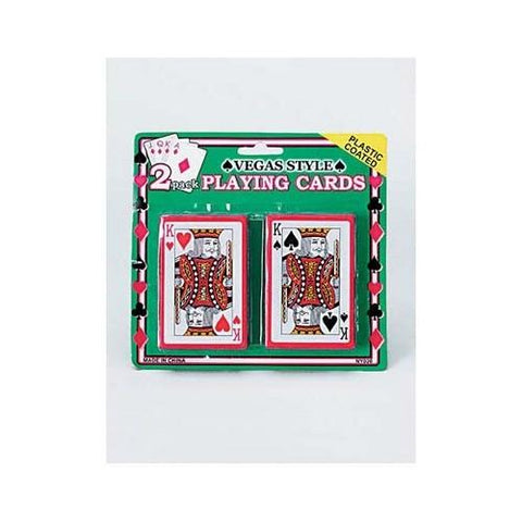 Plastic Coated Poker Size Playing Cards Set ( Case of 24 )
