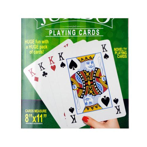 Jumbo Novelty Playing Cards ( Case of 12 )