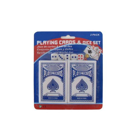 Playing cards and dice set 7 pieces ( Case of 36 )