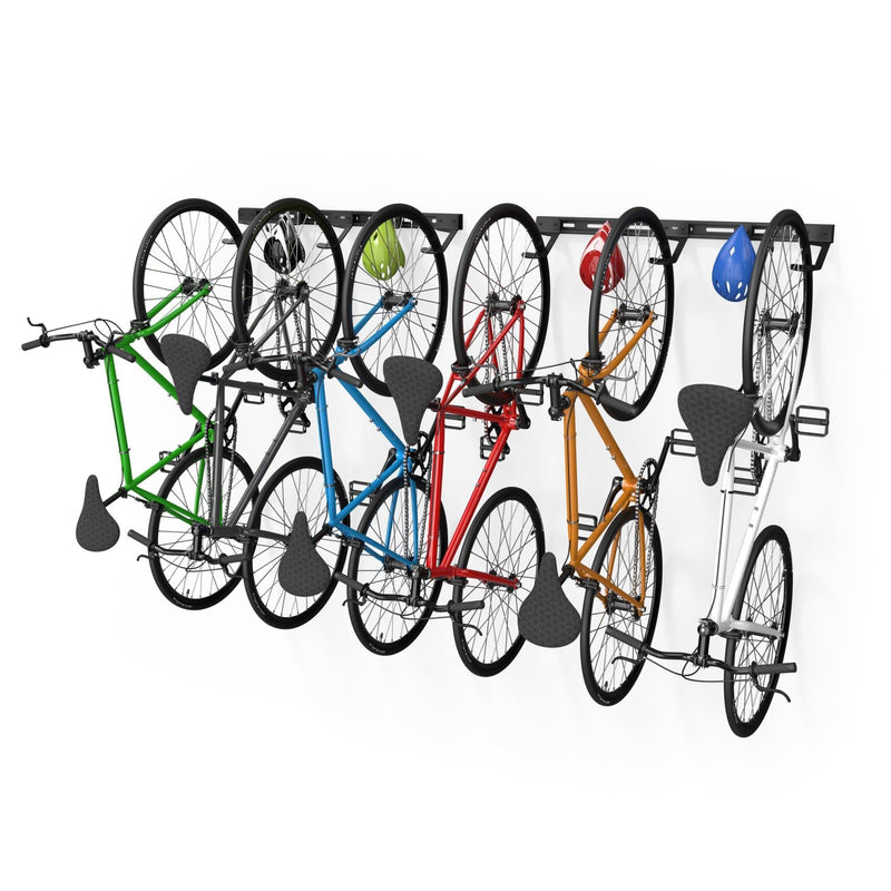 Wall Mounted Bike Rack for 6 Bikes