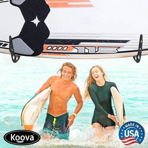 Wall holder for your surfboard - store your surfboard inside or outside