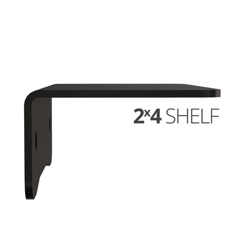 Image of Small wall mounted shelves for home, office and garage - 2x4 side