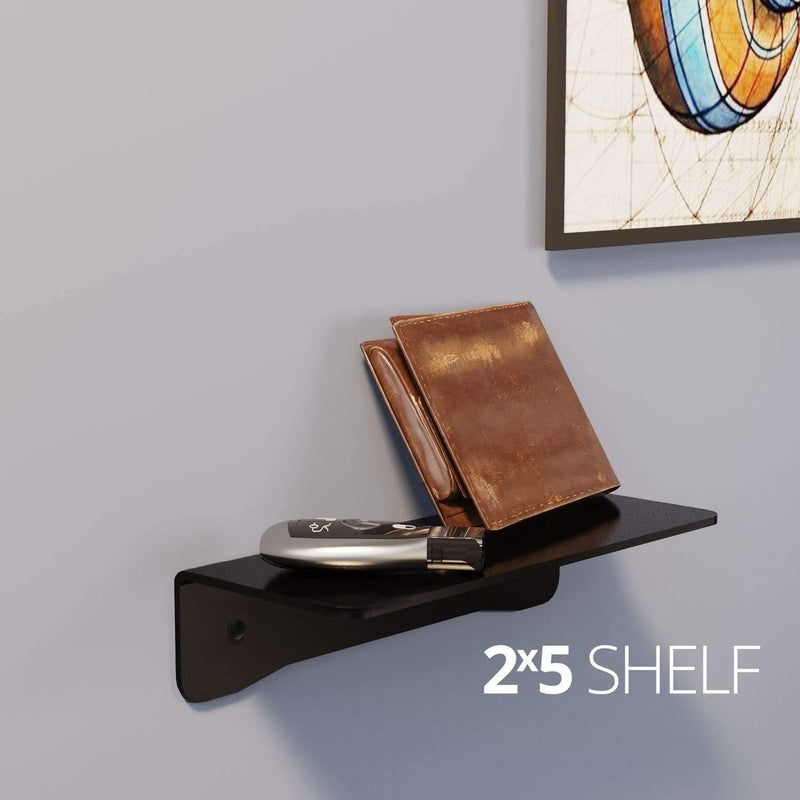 Small wall mounted shelves for home, office and garage - in use on wall