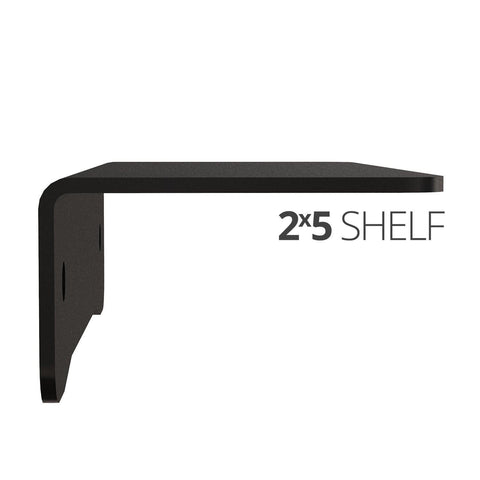 Small wall mounted shelves for home, office and garage - 2x5 side