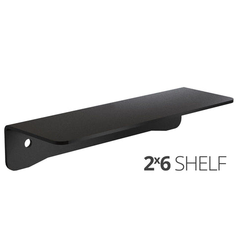 Image of Small wall mounted shelves for home, office and garage - 2x6 angle