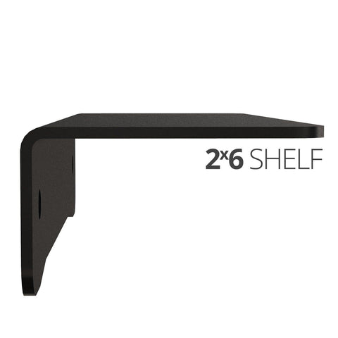 Image of Small wall mounted shelves for home, office and garage - 2x6 side